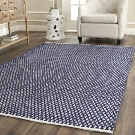 Safavieh-Boston-Collection-BOS685D-Handmade-Navy-Cotton-Area-Rug-4-feet-by-6-feet-4-x-6-0-450x450 Beach Rugs and Beach Area Rugs