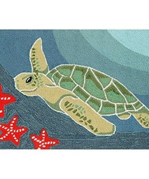 Sea-Turtle-Ocean-Rug-30-x-48-0-300x360 Starfish Rugs and Starfish Area Rugs
