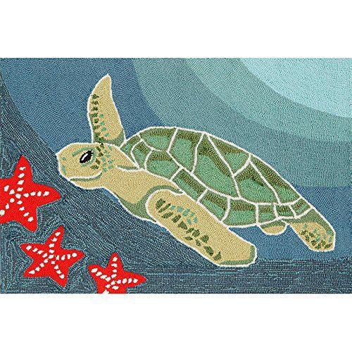 Sea Turtle Ocean Rug 30 X 48 0