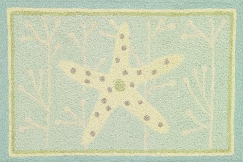 Starfish-on-Spa-Blue-Indoor-Outdoor-Jellybean-Rug-0 Beach Rugs and Beach Area Rugs