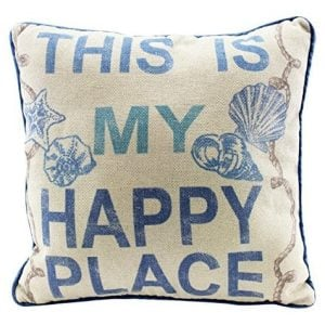 This Is My Happy Place 12 Inch Natural Decorative Beach Throw Pillow 0 300x300