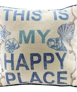 This Is My Happy Place 12 Inch Natural Decorative Beach Throw Pillow 0 300x360