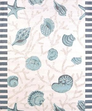 United-Weavers-Area-Rugs-Regional-Concepts-Rugs-541-50660-Shells-Blue-0-300x360 200+ Nautical Rugs and Nautical Area Rugs