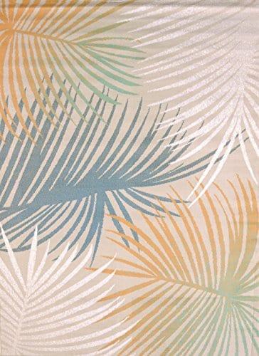 United-Weavers-of-America-Regional-Concepts-Palm-Leaves-Rug-5-3-by-7-2-Blue-0 Beach Rugs and Beach Area Rugs