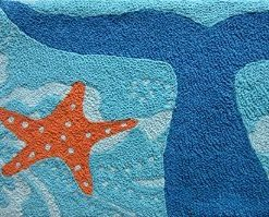 Whale-Of-A-Tail-and-Starfish-Acrylic-Accent-Area-Rug-21-x-33-Jellybean-0-247x199 Beach Rugs and Beach Area Rugs