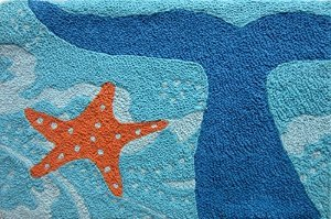 Whale-Of-A-Tail-and-Starfish-Acrylic-Accent-Area-Rug-21-x-33-Jellybean-0 Beach Rugs and Beach Area Rugs