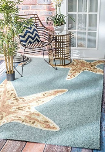 nuLOOM-200-508-Handmade-Starfish-IndoorOutdoor-Area-Rug-0 Beach Rugs and Beach Area Rugs