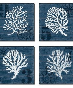 4-Indigo-Blue-Coral-Nautical-Signs-on-a-Wood-Print-Background-0-247x296 100+ Wooden Beach Signs and Wooden Coastal Signs