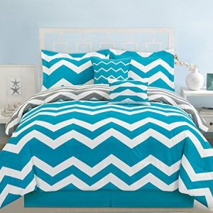 6 Piece Chevron Teal Comforter Set 0 300x300