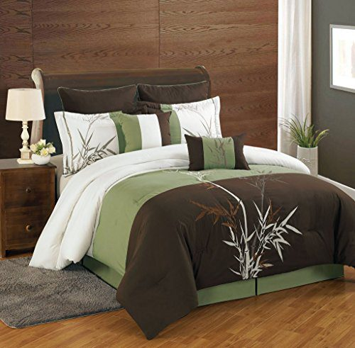 8 Piece Bamboo Embroidered Comforter Set 0