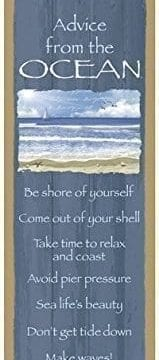 Advice From The Ocean Primitive Wood Plaques Signs Measure 5 X 15 Size Licensed From Ilan Shamir And Your True Nature 0 159x360