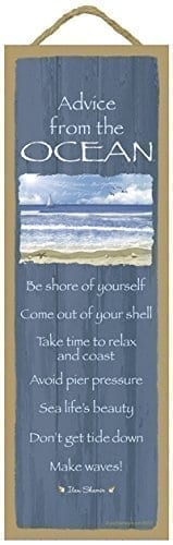 Advice-from-the-Ocean-primitive-wood-plaques-signs-measure-5-x-15-size-Licensed-from-Ilan-Shamir-and-Your-True-Nature-0 The Best Wooden Beach Signs You Can Buy