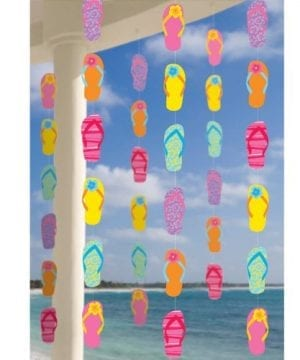Amscan Sun Sational Summer Luau Colorful Flip Flops String Decorations 6 Piece Multi Color 119 X 67 0 300x360
