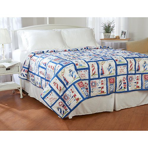 Ashley Cooper Nautical Lighthouse Quilt In Queen Size 0