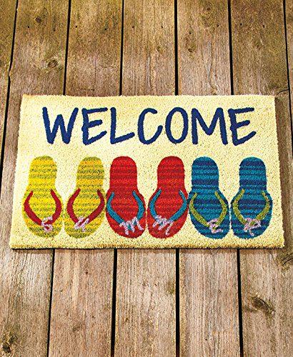 Beach-Coastal-Nautical-Theme-Welcome-Door-Mat-Rug-Front-Coir-Doormat-0 Beach Doormats and Coastal Doormats