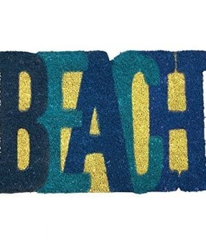 Beach Shaped Nautical Coir Doormat 18 X 28 0 300x360
