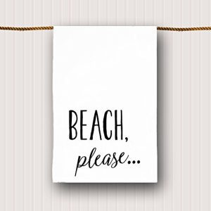 Beach Tea Towel Beach Please 0 300x300