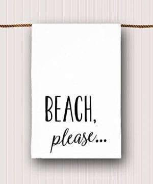 Beach-Tea-Towel-Beach-Please-0-300x360 50+ Beach Hand Towels and Nautical Hand Towels