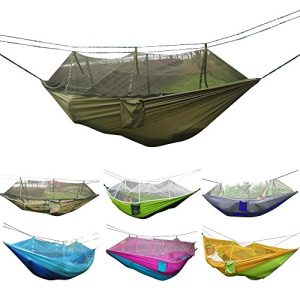 Camping-Hammock-Rusee-Mosquito-Net-Outdoor-Hammock-Travel-Bed-Lightweight-Parachute-Fabric-Double-Hammock-For-Indoor-Camping-Hiking-Backpacking-Backyard-0-300x300 Hammocks For Sale: Complete Guide For 2020