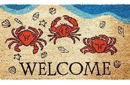 Crabby-Welcome-Coir-Mat-0-450x294 Beach Doormats and Coastal Doormats