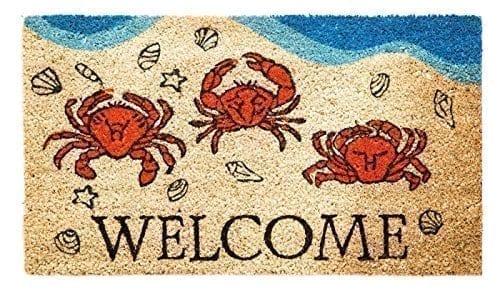 Crabby-Welcome-Coir-Mat-0 Beach Doormats and Coastal Doormats