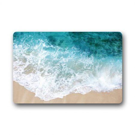 Custom-It-Waves-on-the-Beach-Rectangular-Decorative-non-slip-Doormat-157-by-236-by-316-Inch-0-450x450 Beach Doormats and Coastal Doormats