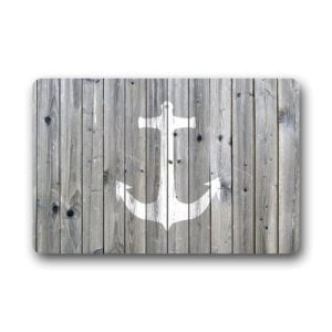 DailyLifeDepot-Generic-Machine-Clean-Top-Fabric-Non-Slip-Rubber-Backing-Durable-Indoor-Outdoor-Doormat-Door-Mats-Retro-Gray-Wood-Pattern-Anchor-Print-Design-0-300x300 Anchor Decor & Nautical Anchor Decorations