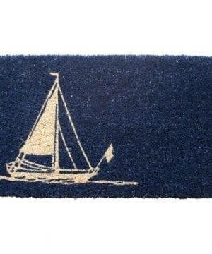 Entryways Hand Woven Coir Nautical Theme Doormat 0 300x360