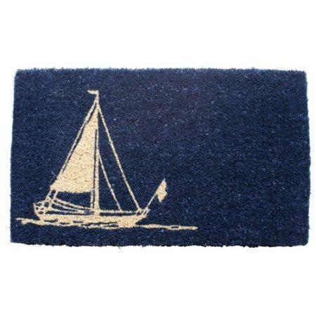 Entryways-Hand-Woven-Coir-Nautical-Theme-Doormat-0-450x450 Beach Doormats and Coastal Doormats