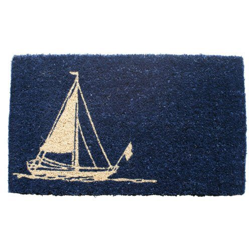 Entryways Hand Woven Coir Nautical Theme Doormat 0