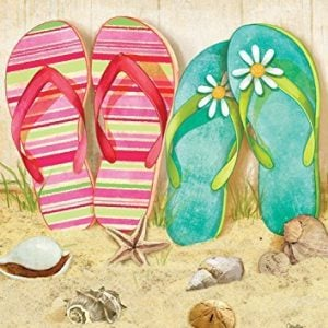 Flip Flop Summer Garden Flag Seashells Beach Starfish 125x18 0 300x300