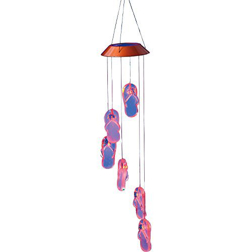 Get Beachy Wind Chime With It Flip Flops Solar Mobile 0