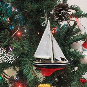 Hampton Nautical American Sailboat Christmas Tree Ornament 9 Decorative Model Boat Nautical Christmas Tree Decoration 0 0 300x300