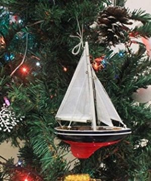 Hampton Nautical American Sailboat Christmas Tree Ornament 9 Decorative Model Boat Nautical Christmas Tree Decoration 0 0 300x360