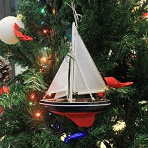 Hampton Nautical American Sailboat Christmas Tree Ornament 9 Decorative Model Boat Nautical Christmas Tree Decoration 0 1 300x300