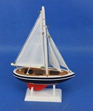 Hampton Nautical American Sailboat Christmas Tree Ornament 9 Decorative Model Boat Nautical Christmas Tree Decoration 0 6 300x360