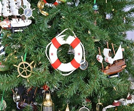 Hampton Life Ring W Red Bands Christmas Ornament