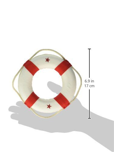 Hampton Nautical White Lifering With Red Bands Christmas Tree Ornament 6 Nautical Christmas Tree Decoration 0 1