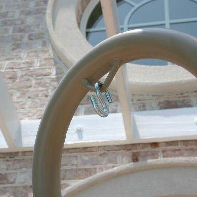 Hatteras Hammocks SWSC1T Steel Single Swing Stand Taupe 0 4