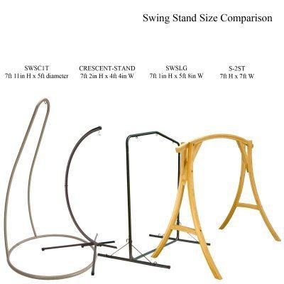Hatteras Hammocks SWSC1T Steel Single Swing Stand Taupe 0 5