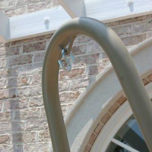 Hatteras Hammocks SWSC1T Steel Single Swing Stand Taupe 0 6 300x300