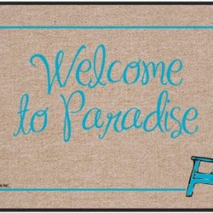 High Cotton Outdoor Mat Welcome Paradise 0 300x300
