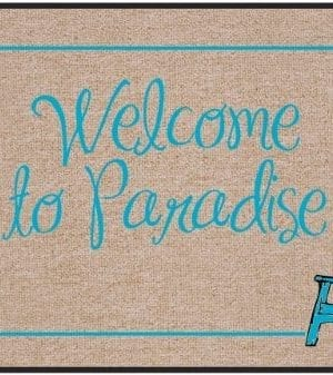 High Cotton Outdoor Mat Welcome Paradise 0 300x337
