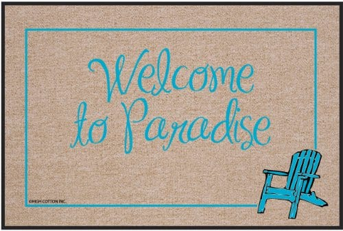 High Cotton Outdoor Mat Welcome Paradise 0