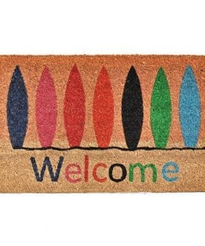 Home-More-121771729-Surfboard-Welcome-Doormat-17-x-29-x-060-Multicolor-0-300x360 Surf Decor & Surfboard Decorations