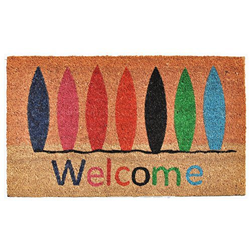 Home More 121771729 Surfboard Welcome Doormat 17 X 29 X 060 Multicolor 0