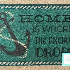 Home-is-Where-the-Anchor-Drops-Coir-Doormat-18-x-28-0-300x300 Anchor Decor & Nautical Anchor Decorations