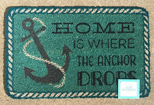 Home-is-Where-the-Anchor-Drops-Coir-Doormat-18-x-28-0 Nautical Anchor Decor