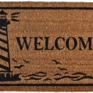 Imports Dcor Vinyl Backed Coir Doormat Guiding Light 18 By 30 Inch 0 300x300