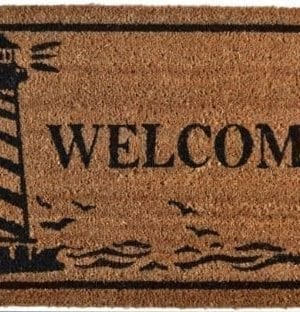 Imports Dcor Vinyl Backed Coir Doormat Guiding Light 18 By 30 Inch 0 300x312
